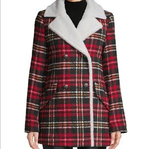NWT French Connection Plaid Print Jacket Size S